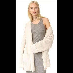 Free People Low Tide Cardigan, Cream, New Small